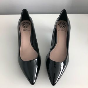 Vince Camuto Patent Leather Kitten Pumps